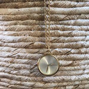 "Nixon ""Spree pendant"" watch necklace"